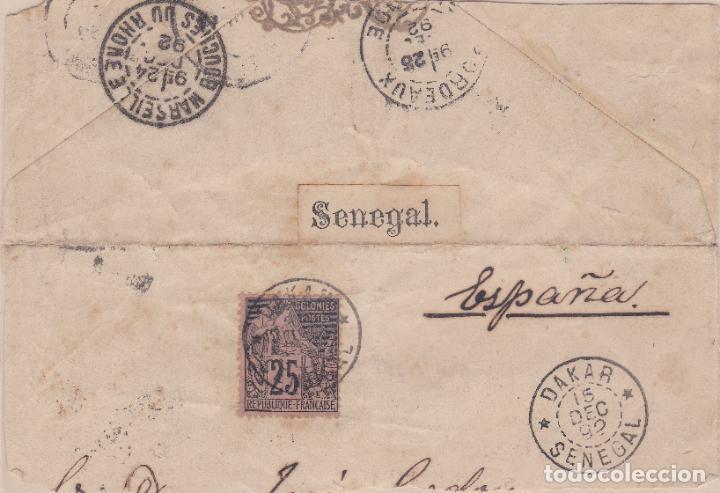 FRONTAL DE DAKAR (SENEGAL) A ESPAÑA ( VER DESCRIPCIÓN ) (Sellos - Extranjero - África - Senegal)