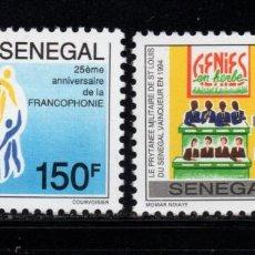 Sellos: SENEGAL 1151/52** - AÑO 1995 - 25º ANIVERSARIO DE LA FRANCOFONÍA. Lote 185907416