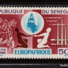 Sellos: SENEGAL AÉREO 42** - AÑO 1964 - ANIVERSARIO DE EUROPAFRICA. Lote 185907957