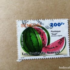 Sellos: SENEGAL -VALOR FACIAL 200 FR - AÑO 2013 - FRUTAS DEL SENEGAL - AZIZ BA . Lote 195415048