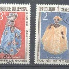 Sellos: SENEGAL 1966 COSTUMES, USED AE.263. Lote 198277277