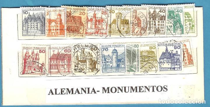 LOTE DE SELLOS DE ALEMANIA. SERIE MONUMENTOS (Sellos - Extranjero - África - Senegal)