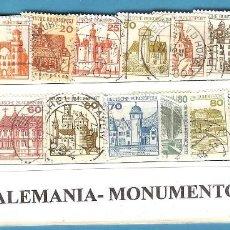 Sellos: LOTE DE SELLOS DE ALEMANIA. SERIE MONUMENTOS. Lote 202011012