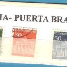 Sellos: LOTE DE SELLOS DE ALEMANIA. PUERTA DE BRADENBURGO. Lote 202017058