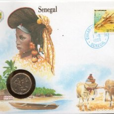 Sellos: SENEGAL NUMISBRIEF 1988 MICHEL 969 + KM 10. Lote 215439691