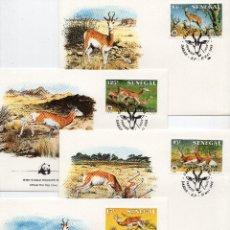 Sellos: SENEGAL SERIE SOBRES PRIMER DIA 1986 MICHEL 875 A 878 WWF. Lote 215504866