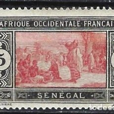 Selos: SENEGAL 1922-26 - MERCADO - MH*. Lote 215933983