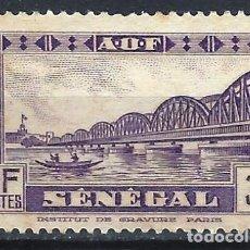 Timbres: SENEGAL 1935-40 - EDIFICIOS, PUENTE FAIDHERBE - SIN GOMA. Lote 215939847