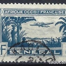 Selos: SENEGAL 1935 - AVIÓN SOBRE PAISAJE, AÉREO - USADO. Lote 215941485