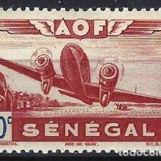 Selos: SENEGAL 1942 - AVIONES, AÉREO - MNH**. Lote 215942307