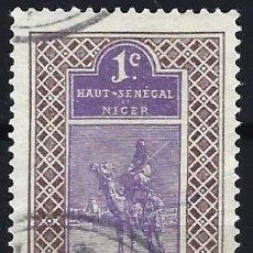 Selos: SENEGAL1914-16 - SELLO DEL ALTO SENEGAL Y NÍGER, JINETE TARGUI CON CAMELLO - USADO. Lote 215945278