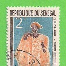 Sellos: SENEGAL - MICHEL 320 - YVERT 267 - MUÑECAS DE GORÉE - LA ELEGANTE. (1966). NUEVO MATASELLADO.. Lote 216591435