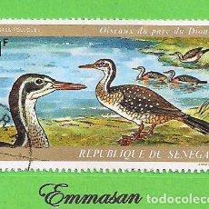 Sellos: SENEGAL - MICHEL 543 - YVERT 134 - AVES - AVESOL AFRICANO - AÉREO. (1974). NUEVO MATASELLADO.. Lote 216592105