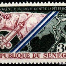 Sellos: SENEGAL 1968 - CAMPAÑA CONTRA LA PESTE BOVINA - YVERT Nº 317**. Lote 217219647