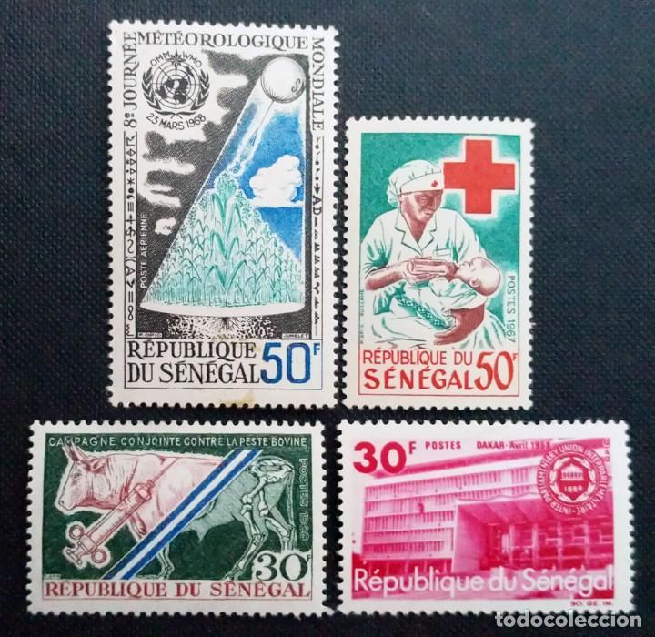 Sellos: SELLOS POSTALES DE SENEGAL 1968 Día mundial de la meteorología, Congreso unión internacional, Pájaro - Foto 2 - 219975838