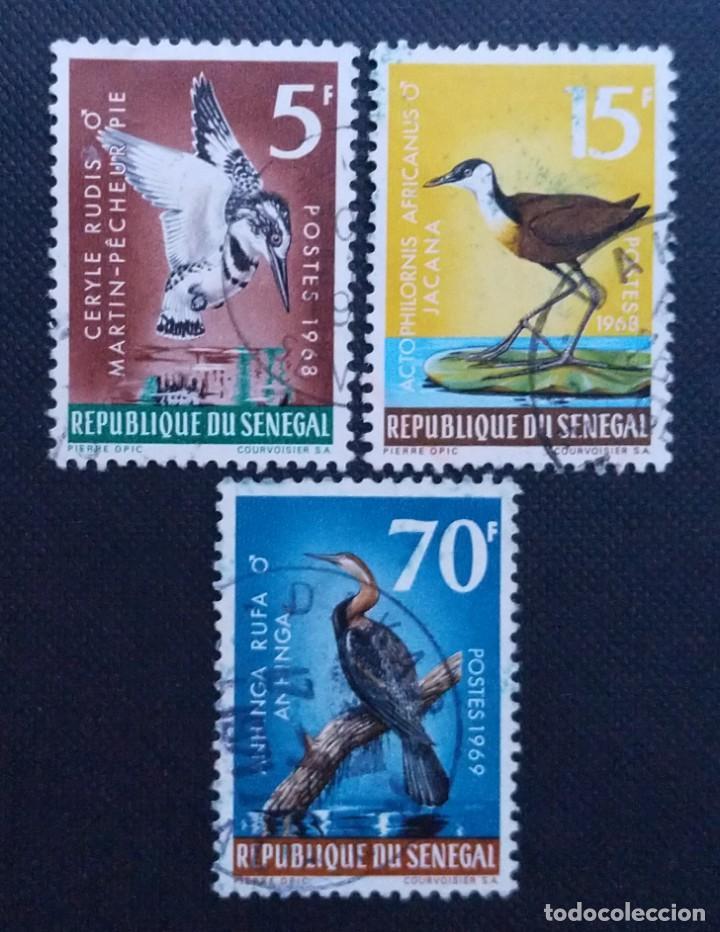 Sellos: SELLOS POSTALES DE SENEGAL 1968 Día mundial de la meteorología, Congreso unión internacional, Pájaro - Foto 3 - 219975838