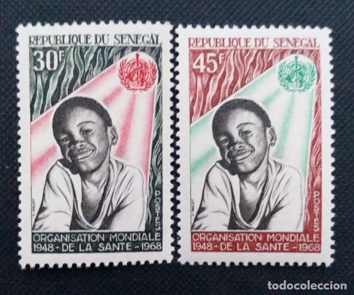 Sellos: SELLOS POSTALES DE SENEGAL 1968 Día mundial de la meteorología, Congreso unión internacional, Pájaro - Foto 4 - 219975838