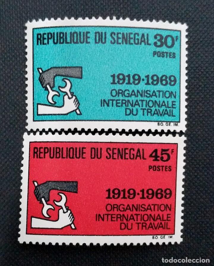 Sellos: SELLOS POSTALES DE SENEGAL 1969 Facultad de medicina, Aniversario OIT, Escudos, Amadou Lamine Gueye - Foto 3 - 219983692
