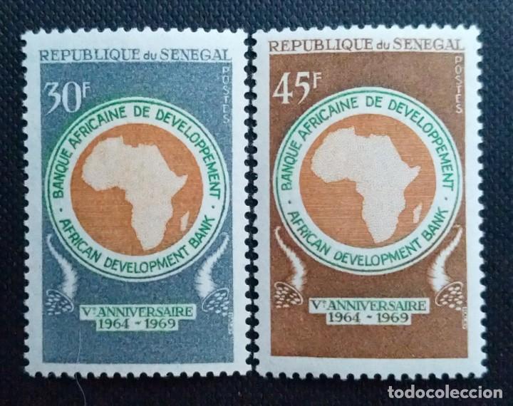 Sellos: SELLOS POSTALES DE SENEGAL 1969 V Aniversario del banco africano de desarrollo, Tapicerías, ASECNA - Foto 2 - 219985408