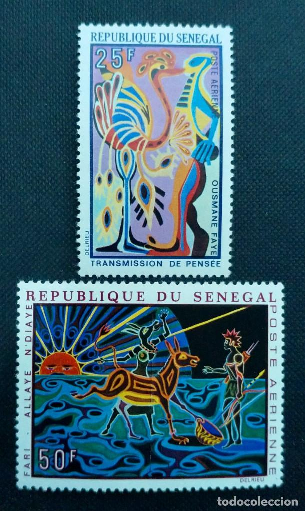 Sellos: SELLOS POSTALES DE SENEGAL 1969 V Aniversario del banco africano de desarrollo, Tapicerías, ASECNA - Foto 3 - 219985408