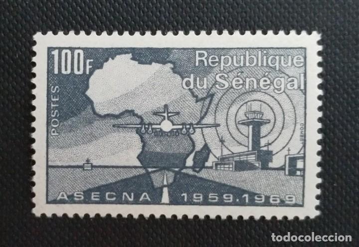 Sellos: SELLOS POSTALES DE SENEGAL 1969 V Aniversario del banco africano de desarrollo, Tapicerías, ASECNA - Foto 4 - 219985408