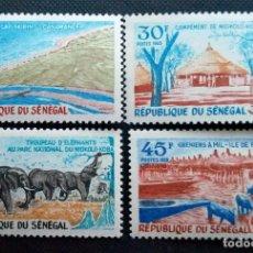 Sellos: SELLOS POSTALES DE SENEGAL 1969 TURISMO. Lote 219986035