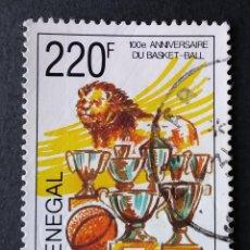 Sellos: 1991 SENEGAL I CENTENARIO DEL BALONCESTO. Lote 221313325
