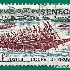 Selos: SENEGAL. 1961. CARRERA DE PIRAGUAS. Lote 236787410