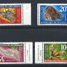 """Sellos: SÉNÉGAL N°305A/8A** (MNH) 1968 - FAUNE """"CRUSTACÉS"""" (BIS). Lote 242248700"""