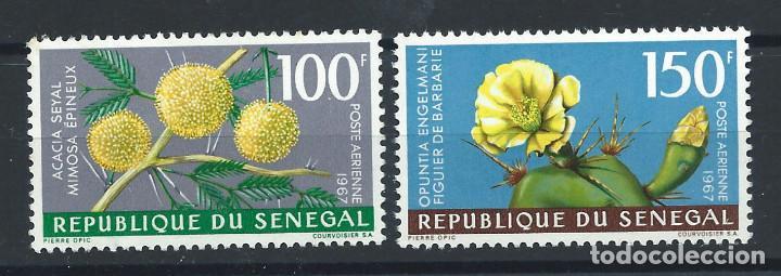 """SÉNÉGAL PA N°59/60** (MNH) 1967 - FLORE """"FLEURS"""" (BIS) (Sellos - Extranjero - África - Senegal)"""