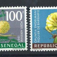 """Sellos: SÉNÉGAL PA N°59/60** (MNH) 1967 - FLORE """"FLEURS"""" (BIS). Lote 242256705"""