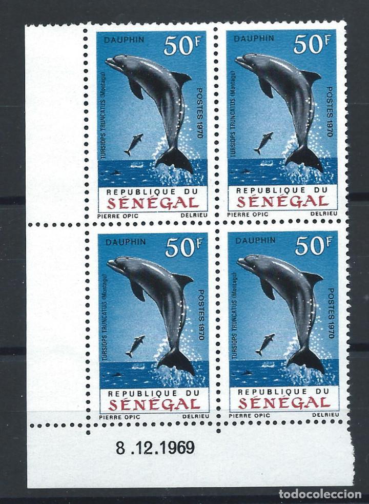 """SÉNÉGAL N°331** (MNH) COIN DATÉ 8/12/1969 - FAUNE """"DAUPHIN"""" (Sellos - Extranjero - África - Senegal)"""