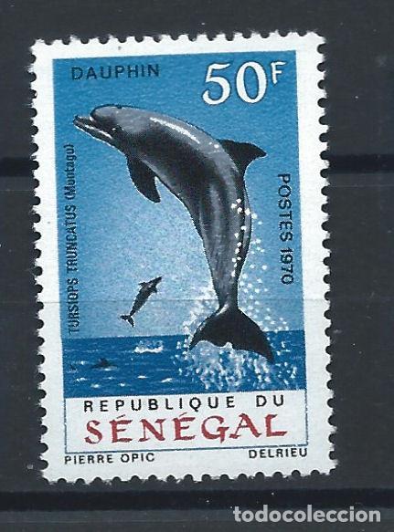 """SÉNÉGAL N°331** (MNH) 1970 - FAUNE """"DAUPHIN"""" (Sellos - Extranjero - África - Senegal)"""