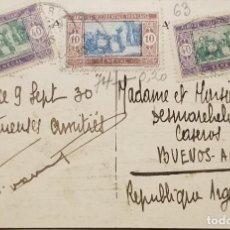 Sellos: O) 1933 SENEGAL, SENEGALESE PREPARANDO ALIMENTOS, A ARGENTINA, XF. Lote 245976500