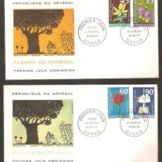 Selos: SÉNÉGAL. 1966. FDC. FLORES. Lote 253126160