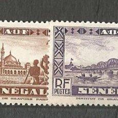 Sellos: SENEGAL - 1935 - 2 SELLOS NUEVOS -. Lote 254115615