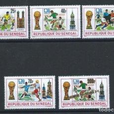Sellos: SÉNÉGAL N°401/04 + 407** (MNH) 1974 - COUPE DU MONDE DE FOOTBALL À MUNICH. Lote 262026385