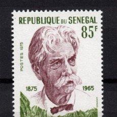 Sellos: SENEGAL 414** - AÑO 1975 - CENTENARIO DEL NACIMIENTO DEL DOCTOR ALBERT SCHWEITZER - NOBEL PAZ 1952. Lote 276720078