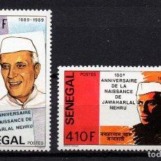 Sellos: SENEGAL 830/31** - AÑO 1989 - CENTENARIO DEL NACIMIENTO DE JAWAHARLAL NEHRU. Lote 276720418
