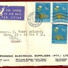 Sellos: CARTA CIRCULADA DE SOUTH AFRICA A ESPAÑA EN 1962. Lote 277289068