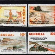 Selos: SENEGAL 1061/64** - AÑO 1994 - CONSERVACIÓN DEL LITORAL. Lote 286877143