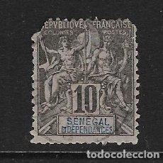 Sellos: SENEGAL - FRANCÉS CLÁSICO. YVERT Nº 12 USADO Y MUY DEFECTUOSO. Lote 288382943
