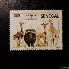 Sellos: SENEGAL YVERT 678 SELLO SUELTO USADO 1986 FAUNA JIRAFA, BÚFALO AVESTRUZ, ANTÍLOPE PEDIDO MÍNIMO 3 €. Lote 289654488