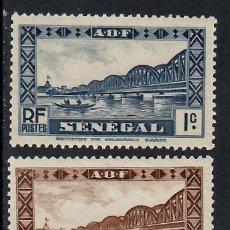 Sellos: SENEGAL (1935). PUENTE FAIDHERBE. YVERT NÚM. 114-116. NUEVOS*** SIN FIJASELLOS.. Lote 290647608