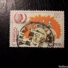 Sellos: SENEGAL YVERT 642 SELLO SUELTO USADO 1985 AÑO INTERNACIONAL DE LA JUVENTUD PEDIDO MÍNIMO 3€. Lote 294088568