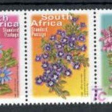 Sellos: SUDAFRICA.- SERIE BASICA.- FLORES Y PLANTAS. Lote 6989485