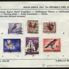 Sellos: SELLOS DE SOUTH AFRICA 1961 SUDAFRICA. Lote 27125112