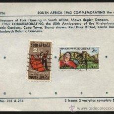 Sellos: SELLOS SUDAFRICA 1962 FOLK. Lote 25763899
