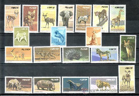 SURAFRICA OCCIDENTAL 433/49, 450/2 SIN CHARNELA, FAUNA, ANIMALES SALVAJES (Sellos - Extranjero - África - Sudáfrica)
