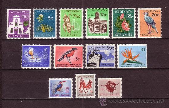 SUDAFRICA 248/60** - AÑO 1961 - FLORA - FLORES - FRUTOS - FAUNA - AVES - BARCOS (Sellos - Extranjero - África - Sudáfrica)